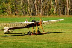 An Antique Henroit Plane. Prepares to Take Off from the Rhinebeck Aerodrome in Duchess County New York Stock Photo