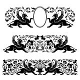 Antique heraldic ornaments Royalty Free Stock Images
