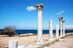 ANTIQUE HERSONES. Ruins of ancient city Hersones in Crimea, Ukraine Stock Photo