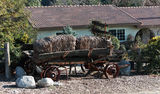 Antique Hey Wagon. In rural Southern California town of Yucaipa. Rustic setting Royalty Free Stock Photo