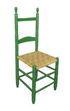 Antique high-back chair isolated. Royalty Free Stock Photos
