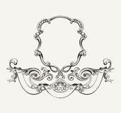 Antique High Ornate Frame And Banner Stock Image