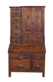 Antique highboy desk isolated. Royalty Free Stock Photography