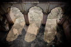 Antique hindu tample. Arches in the antique hindu tample arches Royalty Free Stock Images