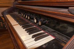 Antique historical piano Royalty Free Stock Images