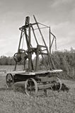 Antique hole driller (black and white) Royalty Free Stock Images