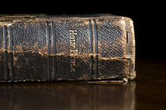 Antique Holy Bible Spine Stock Images