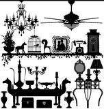 Antique Home Decoration Furniture royalty free illustration