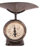 Antique Home Scale. Late 19th century  household weighing scale Royalty Free Stock Photo