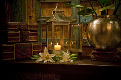 Antique home wares setting Royalty Free Stock Image