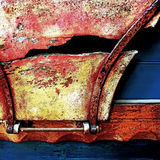 Antique Horse Carriage (detail) - Norfolk UK. A time-weathered panel of an antique horse carriage - Norfolk UK Stock Photography