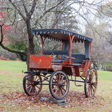 Antique Horse Drawn Carriage Parked on the Lawn. Stock Image