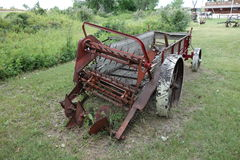 An antique horse-drawn manure spreader Stock Photography