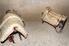 Antique Horse Saddles. On Display stock image