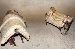 Antique Horse Saddles. On Display Stock Image