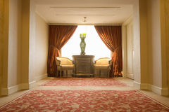 Antique hotel lobby Royalty Free Stock Photography