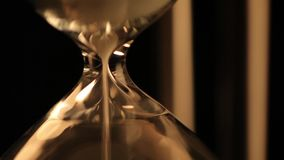 Antique hourglass stock footage