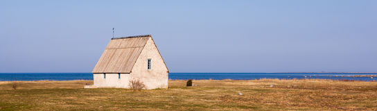 Antique house in the countryside in Gotland Royalty Free Stock Photos