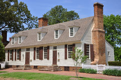 Antique House in Williamsburg Stock Photos