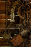 Antique household items in the barn Stock Images