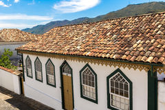 Antique houses in Ouro Preto, Minas Gerais, Brazil Royalty Free Stock Images