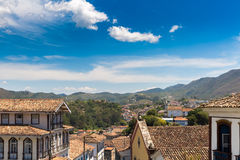 Antique houses in Ouro Preto, Minas Gerais, Brazil Royalty Free Stock Photography