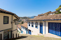Antique houses in Ouro Preto, Minas Gerais, Brazil Stock Images