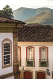 Antique houses in Ouro Preto in Minas Gerais, Brazil Royalty Free Stock Photography