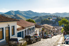 Antique houses in Ouro Preto in Minas Gerais, Brazil Royalty Free Stock Image