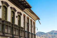 Antique houses in Ouro Preto in Minas Gerais, Brazil Royalty Free Stock Images