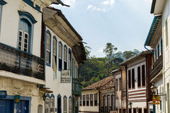 Antique houses in Ouro Preto in Minas Gerais, Brazil Stock Image