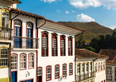 Antique houses in Ouro Preto in Minas Gerais, Brazil Stock Photography