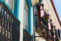 Antique houses in Ouro Preto in Minas Gerais, Brazil Stock Images