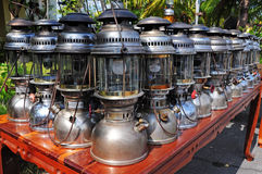Antique Hurricane Lamps Royalty Free Stock Photography