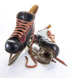 Antique ice hockey skates royalty free stock images
