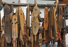 Antique ice skates Stock Photography