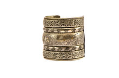 Antique indian bracelet isolated on white Royalty Free Stock Photo