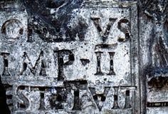 Antique inscription Stock Photography