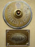 Antique intercom. Antique italian intercom, Tuscany, Europe Royalty Free Stock Images