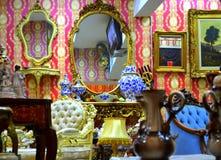 Antique interior stock image
