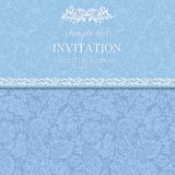 Antique invitation, blue Stock Photo