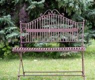Antique Iron Bench Royalty Free Stock Photo