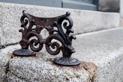 Antique iron boot scraper Royalty Free Stock Photos