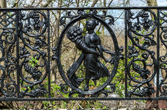 Antique Iron Fence Royalty Free Stock Photography