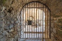 Antique iron gate Stock Images