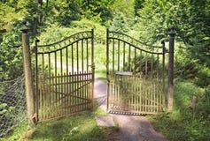 Antique iron gate Stock Photo
