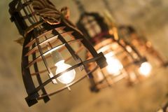 Antique iron lamps royalty free stock photos