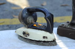 Antique Iron at the market of antiques Royalty Free Stock Photo