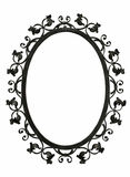 Antique iron mirror frame Stock Images