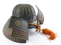 Antique Iron Samurai Helmet Stock Photo